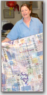 Martha K. Grant with Art Cloth